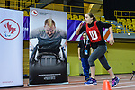 MONTREAL, QC - APRIL 29:  A participant sprints down the track during the 2017 Montreal Paralympian Search at Complexe sportif Claude-Robillard. Photo: Minas Panagiotakis/Canadian Paralympic Committee
