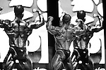 Jason Arntz on stage at the finals for the 2009 Olympia 202 competition in Las Vegas.