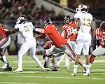 Ole Miss kicker Bryson Rose (81) makes a field goal vs. Mississippi State at Vaught-Hemingway Stadium in Oxford, Miss. on Saturday, November 24, 2012. Ole Miss won 41-24.