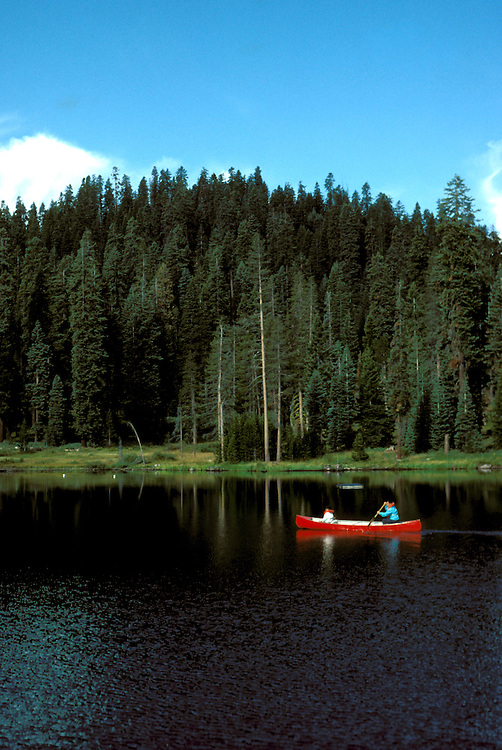 CA: Sequoia-Kings Canyon National Park, canoe   .Photo Copyright: Lee Foster, lee@fostertravel.com, www.fostertravel.com, (510) 549-2202.Image: catree211