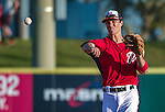 10 March 2014: Washington Nationals infielder Zach Walters in action during a Spring Training game against the Houston Astros at Space Coast Stadium in Viera, Florida. The Astros defeated the Nationals 7-4 in Grapefruit League play. Mandatory Credit: Ed Wolfstein Photo *** RAW (NEF) Image File Available ***