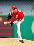 23 September 2010: Washington Nationals pitcher Ross Detwiler on the mound against the Houston Astros at Nationals Park in Washington, DC. The Nationals defeated the Astros 7-2 for their third consecutive win, taking the series three games to one. Mandatory Credit: Ed Wolfstein Photo