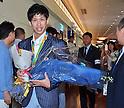 Japan table tennis team returns from Rio 2016