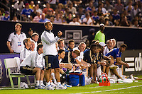 Chelsea FC manager Roberto Di Matteo. Chelsea FC and Paris Saint-Germain played to a 1-1 tie during a 2012 Herbalife World Football Challenge match at Yankee Stadium in New York, NY, on July 22, 2012.