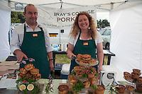 Guist, Norfolk, England, 09/08/2009..Bray's Cottage Pork Pies stall at Norfolk Dog Day at Sennowe Park.