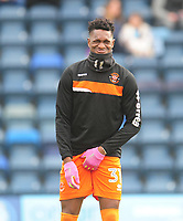 Blackpool's Armand Gnanduillet during the pre-match warm-up <br /> <br /> Photographer Kevin Barnes/CameraSport<br /> <br /> The EFL Sky Bet League Two - Wycombe Wanderers v Blackpool - Saturday 11th March 2017 - Adams Park - Wycombe<br /> <br /> World Copyright &copy; 2017 CameraSport. All rights reserved. 43 Linden Ave. Countesthorpe. Leicester. England. LE8 5PG - Tel: +44 (0) 116 277 4147 - admin@camerasport.com - www.camerasport.com