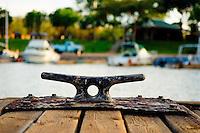 Docking Cleat, Lanai Small Boat Harbor, Island Of Lanai, Hawaii