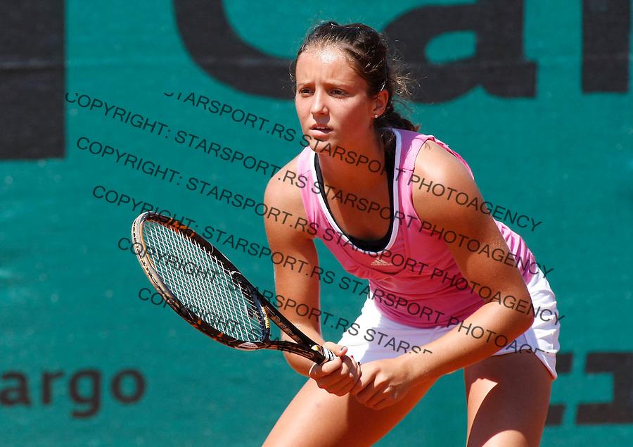 Tennis, world championship, U-14.Great Britain Vs. Russia.Laura Robson (GBR)-Daria Gavrilova (RUS).Laura Robson (GBR).Prostejov, 08.07.2008..Photo: Srdjan Stevanovic.
