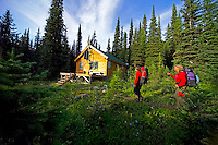 Wells Gray Provincial Park, British Columbia, Canada, August 2006. Discovery cabin in the trophy mountains. Trekking the backcountry of Wells Gray requires expert outdoor skills or a good guide, as one will enter a wilderness area with mountains, lakes and forests. Photo by Frits Meyst/Adventure4ever.com