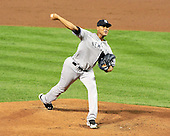 New York Yankees pitcher Ivan Nova (47) works in the second inning against the Baltimore Orioles at Oriole Park at Camden Yards in Baltimore, Maryland in the second game of a doubleheader on Sunday, August 28, 2011.  .Credit: Ron Sachs / CNP.(RESTRICTION: NO New York or New Jersey Newspapers or newspapers within a 75 mile radius of New York City)