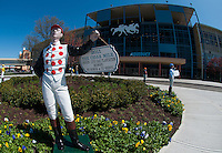 at Aqueduct Racetrack in Ozone Park, New York on Wood Memorial Day on April 7, 2012