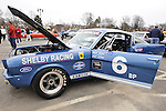 This 1966 Shelby GT 350, in Guardsman Blue with Wimbleton White Stripes, is a racing car at the 58th Annual Easter Sunday Vintage Car Parade and Show sponsored by the Garden City Chamber of Commerce. Hundreds of authentic old motorcars, 1898-1988, including antiques, classic, and special interest participated in the parade.