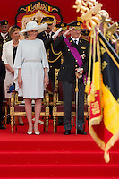 Belgian Royal family attends the military parade, on Belgian National Day - Belgium