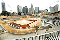 The Charlotte Knights new home at  BB&amp;T Ballpark  will have a seating capacity of 10,000 seats and a natural grass field located in Center City Charlotte, North Carolina. Opening day at the new ballpark will be April, 11, 2014.<br /> <br /> Charlotte Photographer - Patrick Schneider