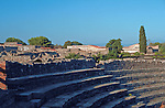 The Odeon or piccolo teatro, the little theatre in Ancient Pompeii that was used for public gatherings and small performances that were not needing the main theatre located next door