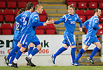 St Johnstone v Motherwell....26.01.11  .Liam Craig celebrates his penalty with Murray Davidson, Danny Grainger and Stevie May.Picture by Graeme Hart..Copyright Perthshire Picture Agency.Tel: 01738 623350  Mobile: 07990 594431
