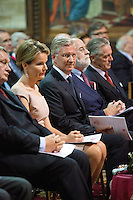 King Philippe of Belgium & Queen Mathilde attend a Symphony Orchestra - Belgium