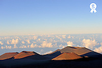 Craters at sunset, Mauna Kea volcano, Big Island, Usa (Licence this image exclusively with Getty: http://www.gettyimages.com/detail/85985779 )