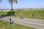 Tony Martin (GER) Team Katusha Alpecin rides off pave sector 10 Merignies a Avelin during the 115th edition of the Paris-Roubaix 2017 race running 257km Compiegne to Roubaix, France. 9th April 2017.<br /> Picture: Eoin Clarke | Cyclefile<br /> <br /> <br /> All photos usage must carry mandatory copyright credit (&copy; Cyclefile | Eoin Clarke)
