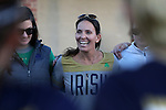 23 February 2017: Notre Dame head coach Christine Halfpenny. The Elon University Phoenix hosted the University of Notre Dame Fighting Irish at Rudd Field in Elon, North Carolina in a 2017 Division I College Women's Lacrosse match. Notre Dame won the game 16-7.