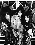 Notley Crue 1983 Nikki Sixx, Vince Neil, Tommy Lee and Mick Mars.© Chris Walter.
