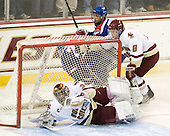 Parker Milner (BC - 35), Michael Scheu (Lowell - 20), Joseph Pendenza (Lowell - 14), Edwin Shea (BC - 8) - The Boston College Eagles defeated the visiting University of Massachusetts-Lowell River Hawks 5-3 (EN) on Saturday, January 22, 2011, at Conte Forum in Chestnut Hill, Massachusetts.