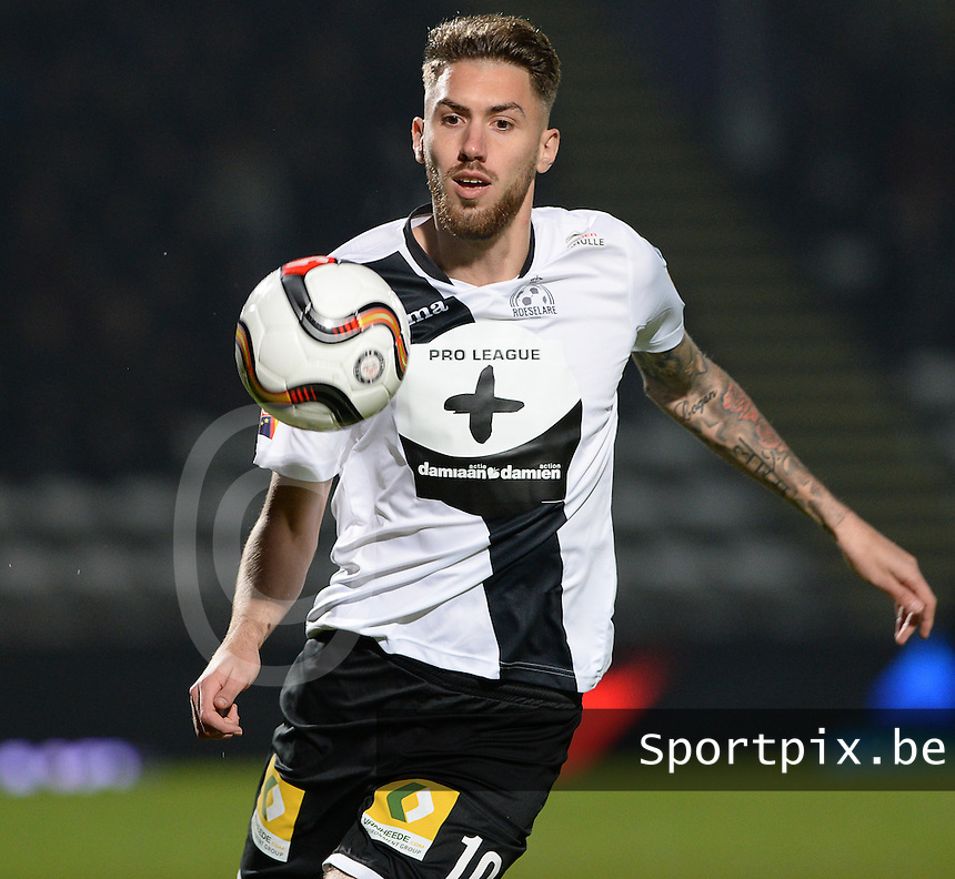 20161217 - ROESELARE , BELGIUM : Roeselare's Samy Kehli pictured during the Proximus League match of D1B between Roeselare and Cercle Brugge, in Roeselare, on Saturday 17 December 2016, on the day 20 of the Belgian soccer championship, division 1B. . SPORTPIX.BE | DAVID CATRY