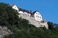Liechtenstein  Vaduz  June 2008. Vaduz Castle.the castle which is about 700 years old, has benn in the possesion of the Princes of Liechtenstein since 1712..