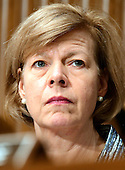 United States Senator Tammy Baldwin (Democrat of Wisconsin) a member of the US Senate Committee on Health, Education, Labor and Pensions during the hearing  considering the confirmation of Betsy DeVos of Grand Rapids, Michigan to be US Secretary of Education on Capitol Hill in Washington, DC on Tuesday, January 17, 2017.<br /> Credit: Ron Sachs / CNP