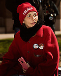 March 4, 2017. Raleigh, North Carolina.<br /> <br /> Jean Augustin of Moore County, NC<br /> <br /> Hundreds of people gathered on Halifax Mall to show their support for the the 45th president of the United States, Donald Trump. They said they are defending the president from what they see as relentless scorn.