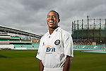 Surrey county cricket club all-rounder Chris Jordan photographed at the Oval stadium in London - Surrey Cricket Club