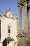 Roman Temple - Diana and San Joao Church, Evora, Alentejo, Portugal