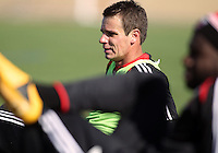 WASHINGTON, DC - February 06, 2012: Conor Shanosky of DC United during a pre-season practice session at Long Bridge Park, in Arlington, Virginia on February 6, 2013.