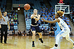 22 January 2017: Notre Dame's Marina Mabrey (3). The University of North Carolina Tar Heels hosted the University of Notre Dame Fighting Irish at Carmichael Arena in Chapel Hill, North Carolina in a 2016-17 NCAA Division I Women's Basketball game. Notre Dame won the game 77-55