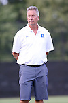 14 August 2014: Duke head coach Robbie Church. The Duke University Blue Devils hosted the University of South Carolina Gamecocks at Koskinen Stadium in Durham, NC in a 2014 NCAA Division I Women's Soccer preseason match. Duke won the exhibition 2-0.