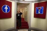 Roma 24  Novembre 2011.Teatro Valle Occupato da  lavoratrici e lavoratori dello spettacolo dal 14 Giugno 2011..Enrico Ghezzi, critico cinematografico, scrittore, autore e conduttore televisivo...