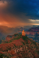 749220321v sunrise storms and heavy cloud cover over mount hayden at point imperial north rim of the grand canyon in arizona united states