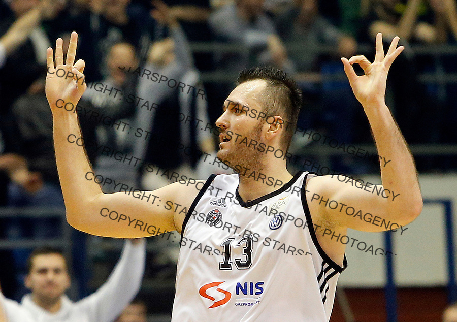 Milan Macvan Aba Jadranska Regionalna liga, Partizan - Zadar, 25. kolo Beograd, Srbija, 15.3.2015.  (credit image & photo: Pedja Milosavljevic / STARSPORT).