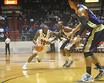 "Ole Miss guard Chris Warren (12) at the C.M. ""Tad"" Smith Coliseum in Oxford, Miss. on Thursday, December 29, 2010. Ole Miss won 100-62. (AP Photo/Oxford Eagle, Bruce Newman)"