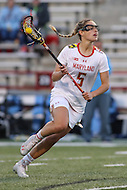 College Park, MD - February 25, 2017: Maryland Terrapins Jen Giles (5) in action during game between North Carolina and Maryland at  Capital One Field at Maryland Stadium in College Park, MD.  (Photo by Elliott Brown/Media Images International)