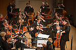 The Durham Medical Orchestra performs their Winter 2016 Concert, featuring the beautiful, bold, bright, and brilliant works of Bach, Beethoven, Brahms, and Bryant, at Baldwin Auditorium on East Campus. Branford Marsalis and Susan Fancher were guest soloists in the program. The Durham Medical Orchestra unites musicians and community at the intersection of music and health. Modeled on the Life Sciences Orchestra at the University of Michigan, the DMO plays substantial pieces from the classical repertoire. The DMO has over 90 members and is composed primarily of health care professionals and graduate students in life science disciplines, as well as friends and family members who share our goals of musical excellence and outreach. The Durham Medical Orchestra was founded in 2010 as the Duke Medicine Orchestra as a collaboration between Duke physician Dr. Barbara Kamholz, the Arts and Health at Duke, the Multicultural Resource Center of Duke School of Medicine, and musicians affiliated with the Duke Medicine community.