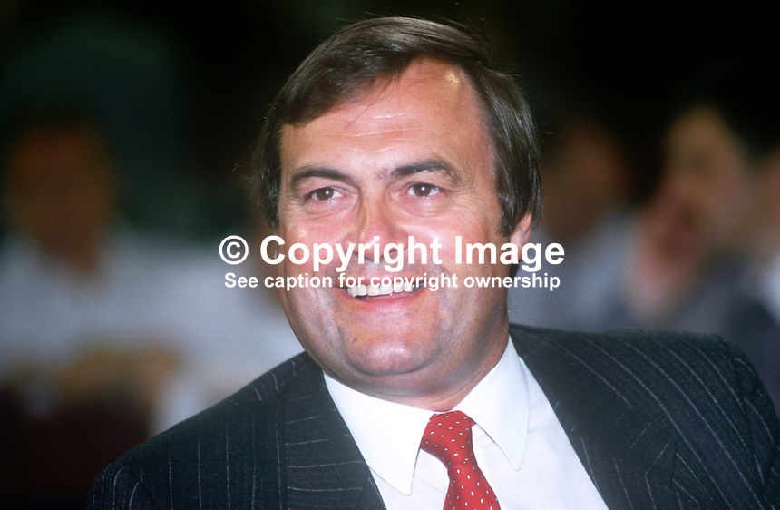John Prescott, MP, Labour Party, UK, annual conference, September 1986, 19860909JP2<br /> <br /> Copyright Image from Victor Patterson, 54 Dorchester Park, Belfast, UK, BT9 6RJ<br /> <br /> t1: +44 28 9066 1296<br /> t2: +44 28 9002 2446<br /> m: +44 7802 353836<br /> <br /> e1: victorpatterson@me.com<br /> e2: victorpatterson@gmail.com<br /> <br /> www.victorpatterson.com<br /> <br /> IMPORTANT: Please see my Terms and Conditions of Use at www.victorpatterson.com