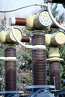 ELECTRIC COMPANY TRANSFORMER SUBSTATION<br /> A transformer is a device that transfers electrical energy from one circuit to another through inductively coupled conductors--the transformer's coils.