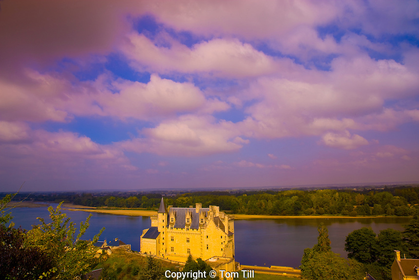 Montsoreau Castle.Loire Valley, France.Loire River.Originally built in 1440