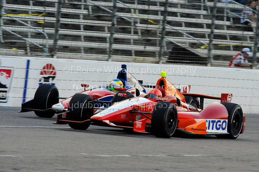 E. J. Viso (#5) and Mike Conway (#14)