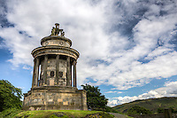 Robert Burns Monument, Edinburgh, Scotland.  .The Burns Monument, built in 1830 by architect Thomas Emilton, is located in Reagent Road, close to the emblematic Calton Hill in Edinburgh.