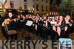 O Happy Days Choir pictured at turning of the Christmas lights in Killorglin last Saturday.