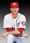 25 February 2011: Corey Brown poses for his Washington Nationals Photo Day portrait at Space Coast Stadium in Viera, Florida. Mandatory Credit: Ed Wolfstein Photo