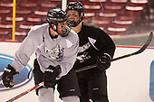 Ryan Tait (PC - 8), Jacob Bryson (PC - 18) - The Providence College Friars practiced at Fenway on Friday, January 6, 2017, in Boston, Massachusetts.
