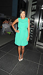 "Alicia Quarles in Shosanna green dress attends the New York Premiere of ""Cosmopolis"" on .August 13, 2012 at MoMA in New York City. The premiere was presented by Gucci and The Peggy Siegal Company. .The stars of the movie are Robert Pattinson, Paul Giamatti, Sarah Gadon, Kevin  Durand and Emily Hampshire."